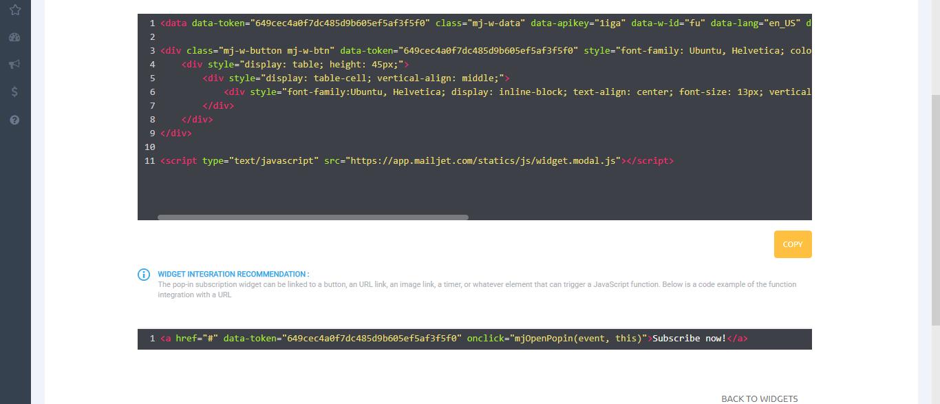 Website Subscription Widget – Technology Toolbox